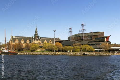 Staande foto Scandinavië Nordic and Vasa ship Museums, Stockholm