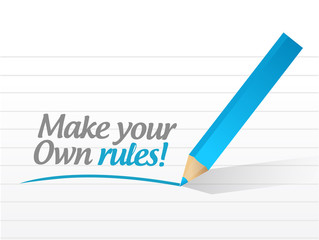 make your own rules message illustration