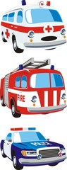 cars of the emergency services
