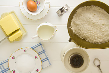 English Scones ingredients above