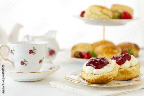 English Scones, Devonshire style Poster