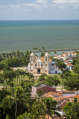 Aerial View of Olinda in Pernambuco, Brazil