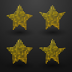 yellow stars made up of small dots