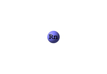 Radon molecular structure on white background
