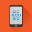 Smartphone flat design vector with icon set