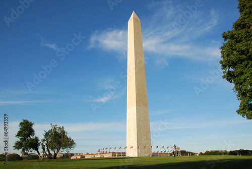 Poster Historisch mon. Washington Monument in Washington DC