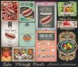Retro Vintage Foods Labels collection. Small posters
