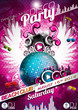 Vector Disco Party Flyer Design with disco ball