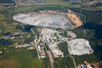 Aerial view Crier mining