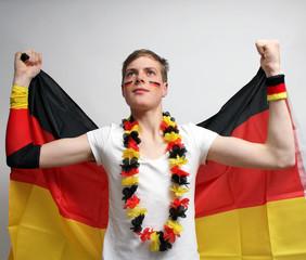 Deutschlandfan heroisch