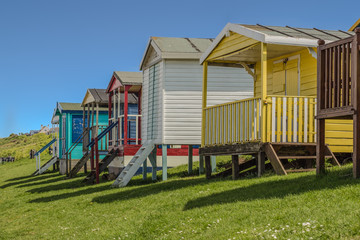 Beach huts in the sunshine, Whitstable