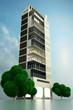 canvas print picture - Modernes Gebäude