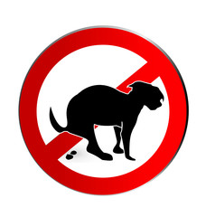 No dog poop sign icon logo vector