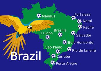 Austragungsorte WM Brasilien