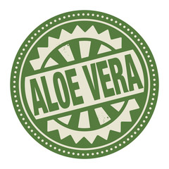 Abstract stamp or label with the text Aloe Vera written inside