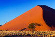 Sunset dunes of Namib desert, Sossusvlei, Namibia, Africa - 64997307