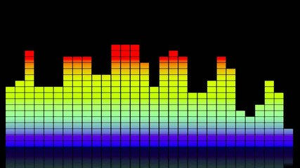 Digital colorful music equalizer on black
