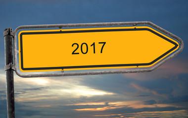 Strassenschild 19 - 2017