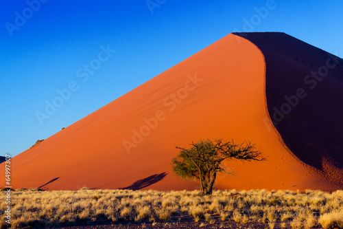 Sunset dunes of Namib desert, Sossusvlei, Namibia, Africa