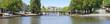 Leinwanddruck Bild - Panorama du pont Saint-Mihiel