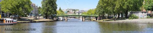 Leinwanddruck Bild Panorama du pont Saint-Mihiel
