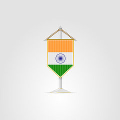 Illustration of national symbols of South Asia countries. India.
