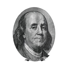 Benjamin Franklin from hundred dollars bill