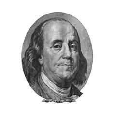 Benjamin Franklin from hundred dollars bill