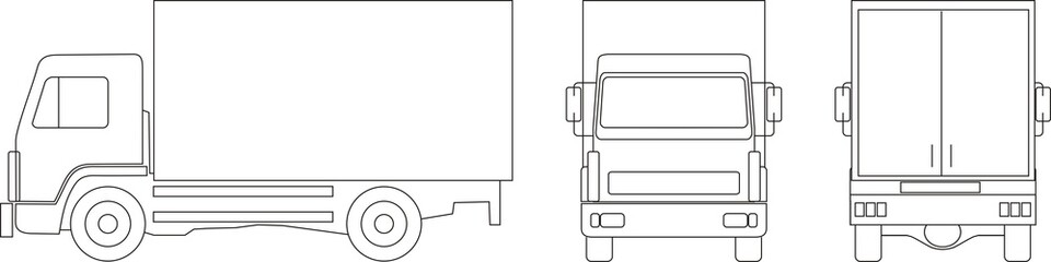 lorry outline