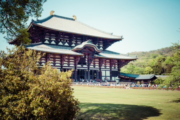 Todaiji Buddhist temple in the ancient Japanese capital Nara