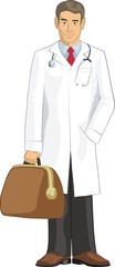 doctor with bag