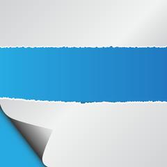 Przerwana kartka papieru zagięty róg