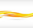 Abstract orange wave background - 65000187