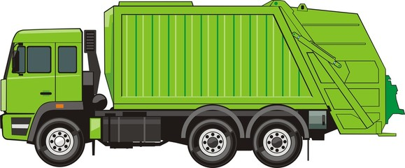 truck for assembling and transportation trash