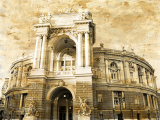 Opera house, Odessa, Ukraine,
