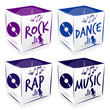 4 cube music style