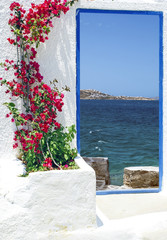 Traditional architecture on Mykonos island, Greece