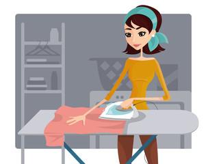 Lavori domestici - stirare