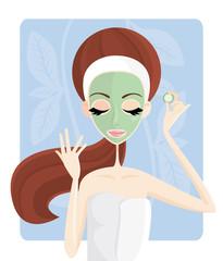 Cura di bellezza - maschera al cetriolo