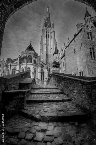 Stampa su Tela Church of Our Lady Bruges Belgium