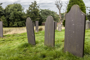 Tombstones in a cemetey