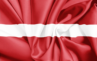 Lettland Fahne