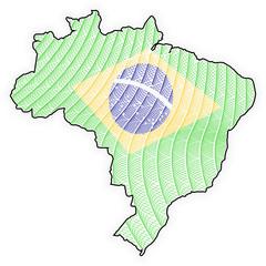 Map Brazil - Brasil - Guilloche