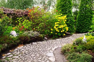 Fresh colorful garden