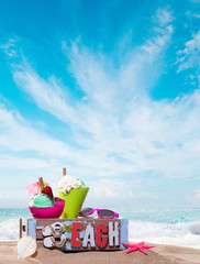 Gourmet tropical icecream dessert