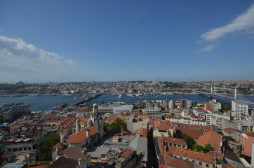 View over Istanbul from Galata tower, Turkey