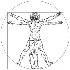 Vitruvianischer Mensch Leonardo Da Vinci Figur