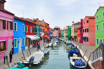 island of Burano in the Venetian lagoon.