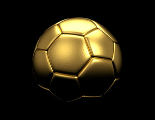gold ball on dark background