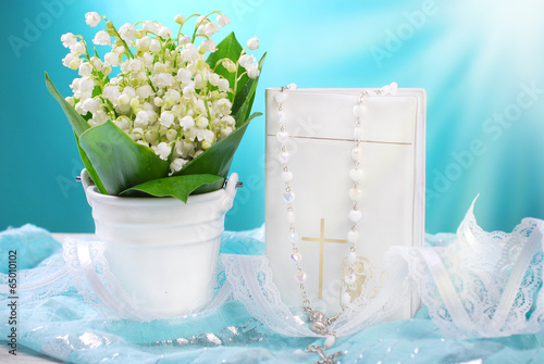 Papiers peints Muguet de mai the first holy communion still life